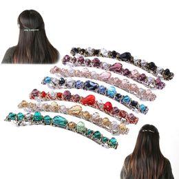 Crystal Plastic Hair Clip Australia - Fashion Women Korean Style Crystal Rhinestone Barrette Hairpin Headwear Hair Clip Accessories C19010501