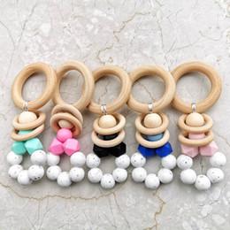 Pram rattles online shopping - INS Hot sale Baby pram toy Wooden Bell Stick Shaker Rattles newborn Pram Handle Baby Gift newborn toy A8339