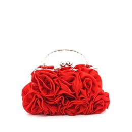 Silk Handbags Australia - New 2019 Classic Designer Chic Flower Rose Day Clutch For Female Women Silk Handbag Lady Small Wedding Evening Bag An1212