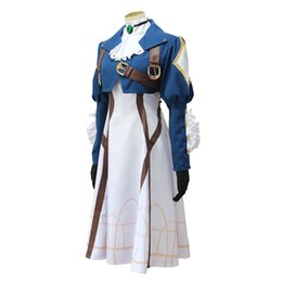 Costumes New Anime Violet Evergarden Cosplay Violet Evergarden Fancy Dress Outfit Dia das Bruxas adultos para as Mulheres S-XL