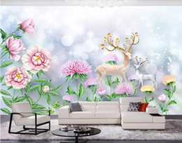 paper house small Australia - 3D Wallpaper Small fresh Nordic fashion simple Background Wall Mural Living Room Bedroom Home Decor Wall Paper For Walls 3D Papel De Parede