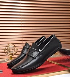 $enCountryForm.capitalKeyWord NZ - Brand Men cow leather Dress Wedding shoe moccasins Horsebit Loafer Fashion formal Suit Office Shoe Flalt Doug driving Oxfords with box,38-44