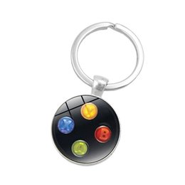 $enCountryForm.capitalKeyWord UK - Game Controller Key Chain Playstation Perfect Gift Creative Jewelry Video Game Controller Pattern Keychain Gifts for Men