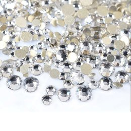4mm Flat Back Rhinestones Australia - Pandahall 300pcs bag 1.5~4mm Crystal AB Faceted Flat Round Back Glass Rhinestone Nail Art Decoration Accessories