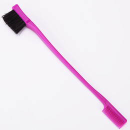 $enCountryForm.capitalKeyWord Australia - New 3 Color Beauty Double Sided Edge Control Hair Comb Hair Styling Hair Brush Eyebrow Free Shipping