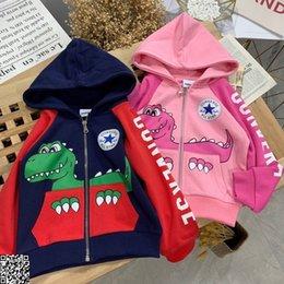 $enCountryForm.capitalKeyWord Australia - Kids hooded jackets sets kids designer clothing clothes dinosaur print hooded jacket + casual pants 2pcs autumn boys and girls sets