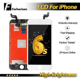 Iphone Screen Testing Australia - High Brightness-For iPhone 6s LCD Replacement 100% Tested Top Quality Touch Screen Digitizer Assembly Replacement & Free DHL Shipping