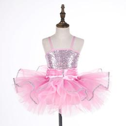 $enCountryForm.capitalKeyWord Australia - Girls Sequined Leotard Ballet Dress Pink Blue Tutu Ballerina Costume Lyrical Dance Costume Swan Ballet Dancer Dress Wear