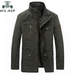 winter men jeep jacket Australia - Brand AFS JEEP Plus Size 7XL 8XL Military Jacket Men 2019 Casual Stand Collar Cotton Winter Jackets Coats jaqueta masculina S191019