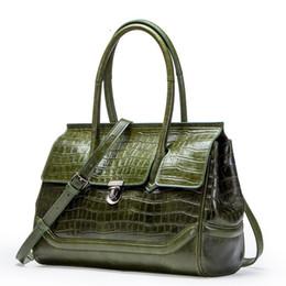 $enCountryForm.capitalKeyWord NZ - Alligator Cow Leather Ladies HandBags Women Messenger Bags Totes Designer Crossbody Shoulder Bag Boston Hand Bags Hot Sale