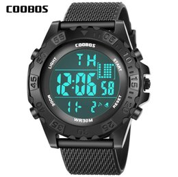Cold watChes online shopping - Fashion mens male outdoor sport digital cold light watch big dial men multi function rubber LED Luminous wrist watch wristwatch