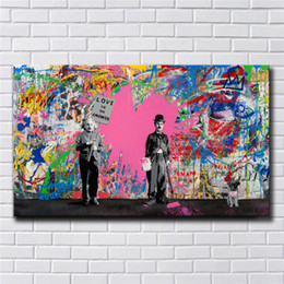 Wholesale Mr Brainwash ,Juxtapose,HD Canvas Printing New Home Decoration Art Painting Unframed Framed