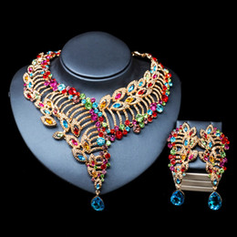 palace jewelry 2019 - LAN PALACE African beads necklace jewelry set gold color necklace and earrings for wedding free shipping cheap palace je
