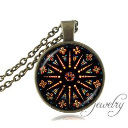 $enCountryForm.capitalKeyWord NZ - Church Stained Glass pendant neklace mandala Jewelry Notre Dame de Paris stained necklace for women men gift fashion jewelry