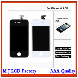 4s Full Screen Australia - Good Quality For iPhone 4 4s LCD Display Touch Digitizer Complete Screen with Frame Full Assembly Replacement + Free DHL Shipping