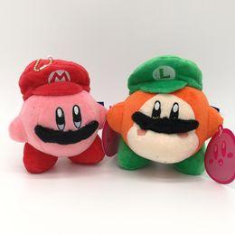 $enCountryForm.capitalKeyWord Australia - EMS Kirby Waddle Dee With Mario Luigi Hat 13CM Plush Doll Stuffed Pendant Best Gift Soft Toy