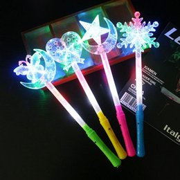 Discount pointed star led - Five-pointed star glow stick love butterfly moon electronic flashing stick light stick led snowflake creative gift conce