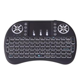 Batteries Usb Mouse UK - 200 Rii i8 Remote Control Air Mouse With LED Backlight Keyboard Combo 2.4GHz Handheld Keypad Built in battery Black For All Android