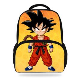 bb89797997 14Inch Popluar Dragon Ball School Backpack For Children Cartoon Printed Bag  For Kids Boys Girls Y18120601