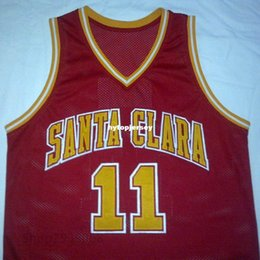 Red Basketball Jerseys Australia - Cheap custom STEVE NASH Santa Clara Broncos White Red College Basketball Jersey Embroidery Stitched Customize any size and name NCAA