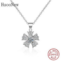 trinket necklaces NZ - 925 Sterling Silver SnowflakeFlower Zircon Pendants Necklaces Link Chain Choker Collier Women Making Jewelry Christmas Trinket