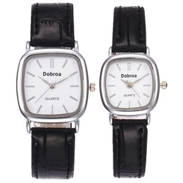 $enCountryForm.capitalKeyWord NZ - Fashion small square dial simple design leather watch unisex mens women lovers couple leisure dress party quartz wrist watches