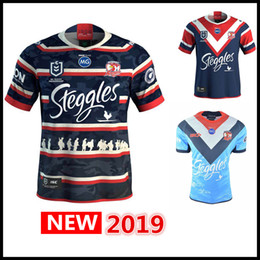 45e07563dd8 Newest Australia 2019 SYDNEY ROOSTERS Home ANZAC rugby Jerseys League shirt  nrl jersey MEN'S AUCKLAND 9'S JERSEY shirts