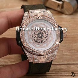 $enCountryForm.capitalKeyWord Australia - New Luxury Men Wristwatch Swiss Automatic Movement Sapphire Crystal Rose Gold Diamond Case openworked Dial Leather Strap Watches 43 mm