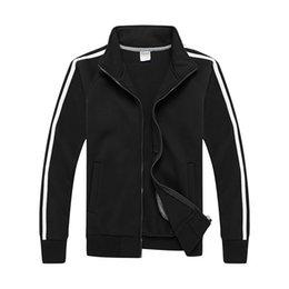 $enCountryForm.capitalKeyWord Australia - New Sweatshirt Designer Hoodie Sport Hoodies for Men Cardigan Zipper Active Long Sleeve Striped Pattern Fleece Stand Collar Cotton Blend