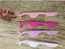 $enCountryForm.capitalKeyWord NZ - 1pcs Fake Eyelashes Extension Clamp Auxiliary Tweezers Clips Plastic Practice Beauty Eye Lash Makeup Tools