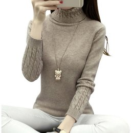 Cotton Cashmere Turtleneck Australia - Thick Warm Women Turtleneck 2019 Winter Women Sweaters And Pullovers Knit Long Sleeve Cashmere Sweater Female Jumper Tops