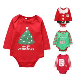 fb09ebdf5027 good quality infants cartoon jumpsuit boys girls baby summer cotton onesies  Christmas tree pattern printing toddler pajamas