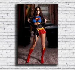 $enCountryForm.capitalKeyWord Australia - Megan Fox, Supergirl, Sexy Woman,1 Pieces Home Decor HD Printed Modern Art Painting on Canvas (Unframed Framed) 24x36.