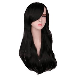 Hair Extensions & Wigs Curly Wigs Fei-show Synthetic Heat Resistant Fiber Long Light Brown Hair Salon Inclined Bangs Hairpiece Costume Cos-play Hairset