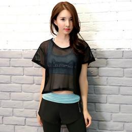 Kadın yaz 2017 spor spor yoga set (mesh oymak kısa kollu tee gömlek sütyen şort şort) spor açık takım elbise # 680806 indirimde