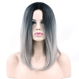 $enCountryForm.capitalKeyWord Australia - 10 Colors Synthetic Hair Ombre Grey Hair Bob Style Short Wigs For Black Women Party Cosplay Wig