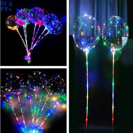 $enCountryForm.capitalKeyWord Australia - LED Flashing Bobo Ball Night Lighting Balloons Multicolor Decoration Balloon Wedding Party Decorative Bright Lighter Balloons With Stick