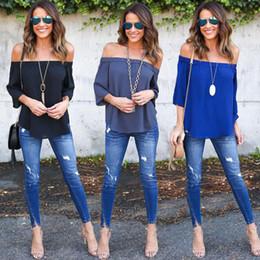 $enCountryForm.capitalKeyWord NZ - Casual T Shirt Tops Women Clothing New Fashion Women Lady Clothes Tops Summer Short Sleeve Off Shoulder Loose