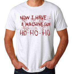 Custom Machine Guns NZ - Have A Machine Gun Ho 80's Action Movie Die Hard Mens New Novelty White T-Shirt T-shirt Men Man's Design Custom Short Sleeve Boyfriend's