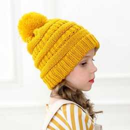 $enCountryForm.capitalKeyWord Australia - New Autumn Winter Kid Girls Boys Knit Hat Candy Color Kids Knitted Beanies Skull Caps Children Warm Hats 15235