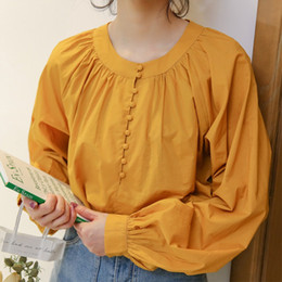 Korean fashion cute long shirts online shopping - Korean fashion women plus size Loose ladies blouse shirts long sleeve cute baby doll blusa chemisier femme mori girl
