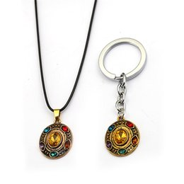 Marvel necklaces online shopping - Endgame Thanos Necklace For Men Rope Chain Metal Infinity Gauntlet Pendant Necklace Women kolye Marvel Movie Jewelry