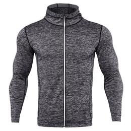 $enCountryForm.capitalKeyWord UK - Men Running Sport Hoodie Sweatshirt Gym Fitness Training Outerwear Jackets Male Compression Quick dry Jogging Crossfit Clothing