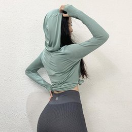 Wholesale swear shirts for sale - Group buy Women s Sports Top Quick Dry Breathable Swear Hoodie Fitness Sports Gym Running Training Yoga Top T shirt Yoga Sportswear Women