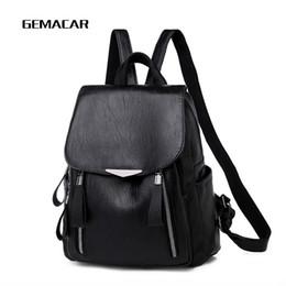 56211e0771766 8 Fotos Online Elegante rucksäcke Kaufen-Weiblicher Rucksack Kunstleder  Classic Damen Casual Daypack Designer Hochwertige Rucksack Lady