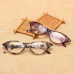 9c513fb9b2c Full Frame Cat Eye Reading Glasses Eyewear Women Men Optical Myopia Printed Frame  Fashion High-definition reading glass VVA245