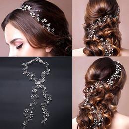 $enCountryForm.capitalKeyWord Australia - 50 CM Long Headbands Crystal Pearl Wedding Hair Accessories Braid Jewelry Bridal Headpiece Flower Women Tiara Bead Hair Ornament