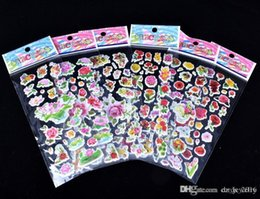 Decorative Cartoon Design Australia - 20 pcs bag design 3D Cartoon Bubbles stickers 7*17cm party Decorative book Stickers paper game Children gift toys free shipping