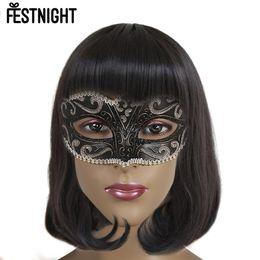 $enCountryForm.capitalKeyWord Australia - FESTNIGHT 10Pcs Women Hot sales 6 Color Sexy Lady Lace Mask Cutout Eye Mask for Masquerade Party Fancy Dress Costume