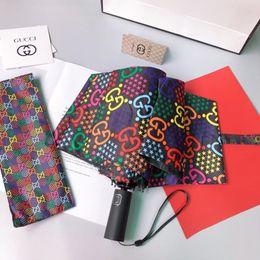 Wholesale G Luxury umbrella high quality print letter Parasols designer umbrellas avoid rain sun light ultraviolet ray luxury umbrellas with box